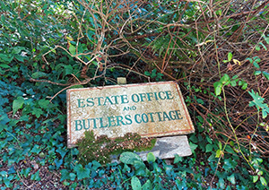 Sign for estate office