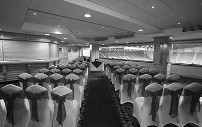Wedding venue ready for guests